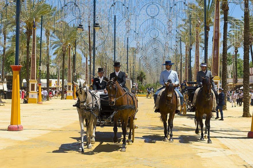 spain the spanish flu dresses beauty holiday feria del caballo andalusia horse