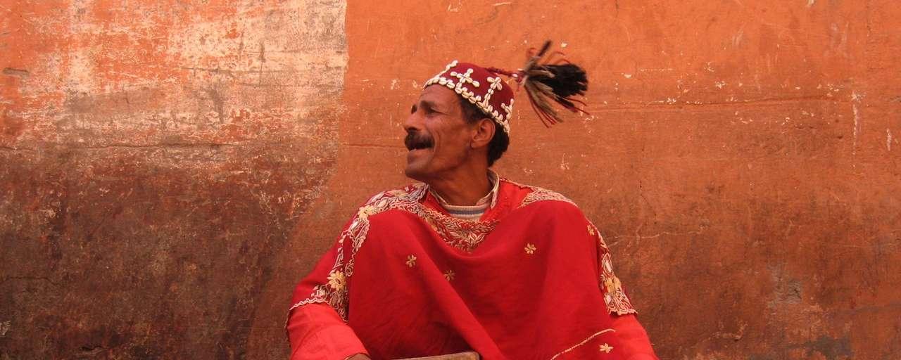 Guimbri player, Marrakech